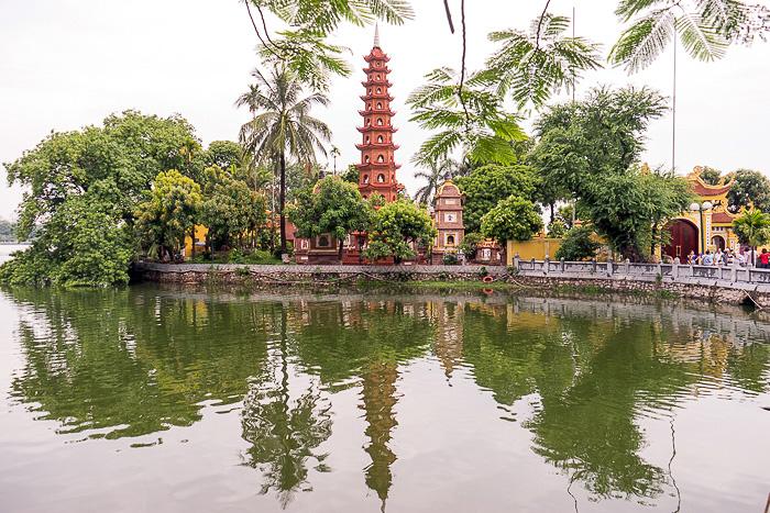 Lake temples Hanoi